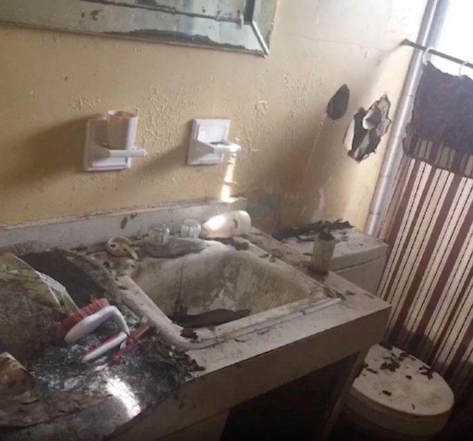 Bathrooms needed major repairs and updates.