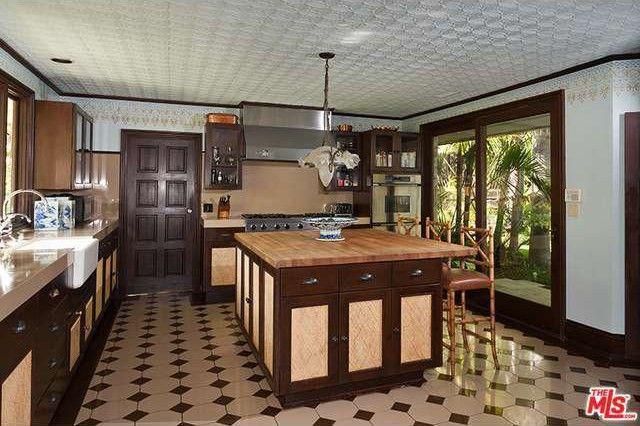 Kitchen in the Los Angeles Home of Cheryl Tiegs