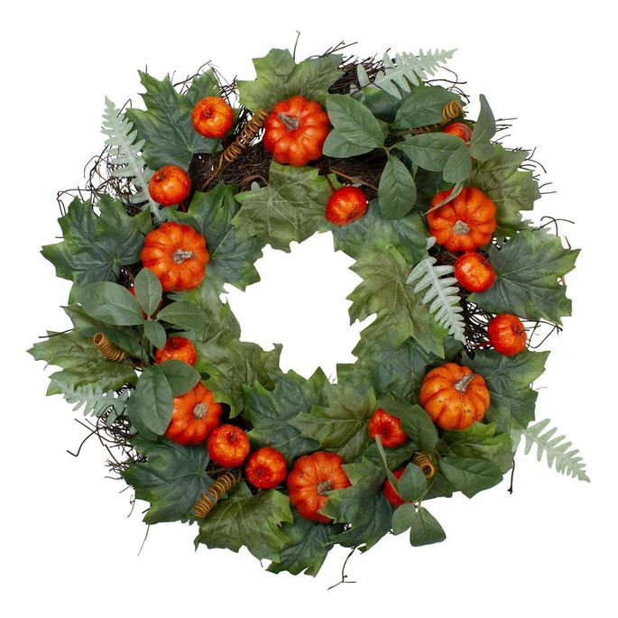 A wreath is a classic Halloween decoration.