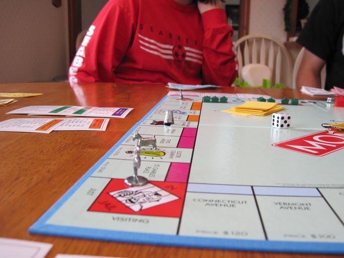 playing monopoly board game