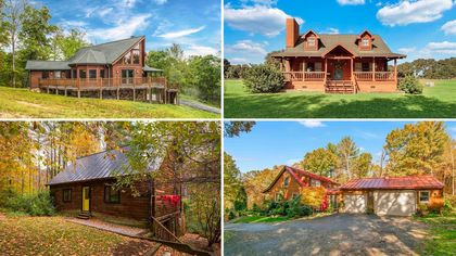 Cozy Up to These 10 Lovely Log Cabins on the Market Right Now