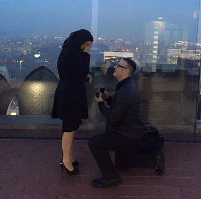 Chris Collins proposed to Veronica Key in January.