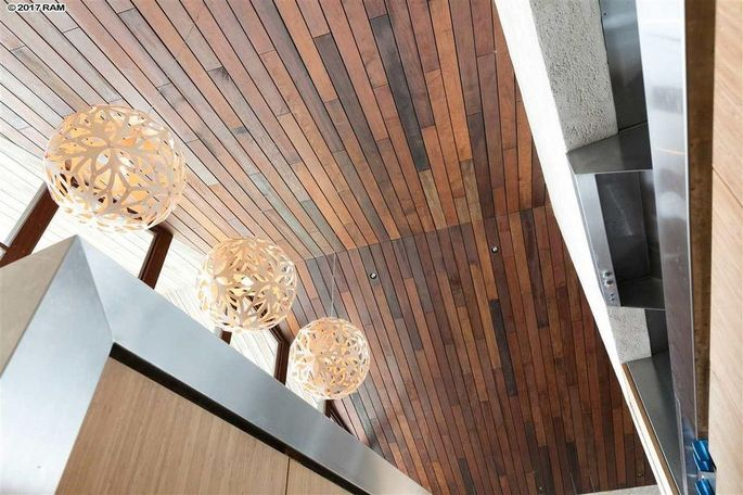 Ipe wood ceiling