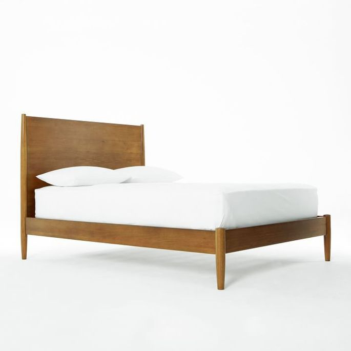 This bed's finish is water-based and low-VOC.