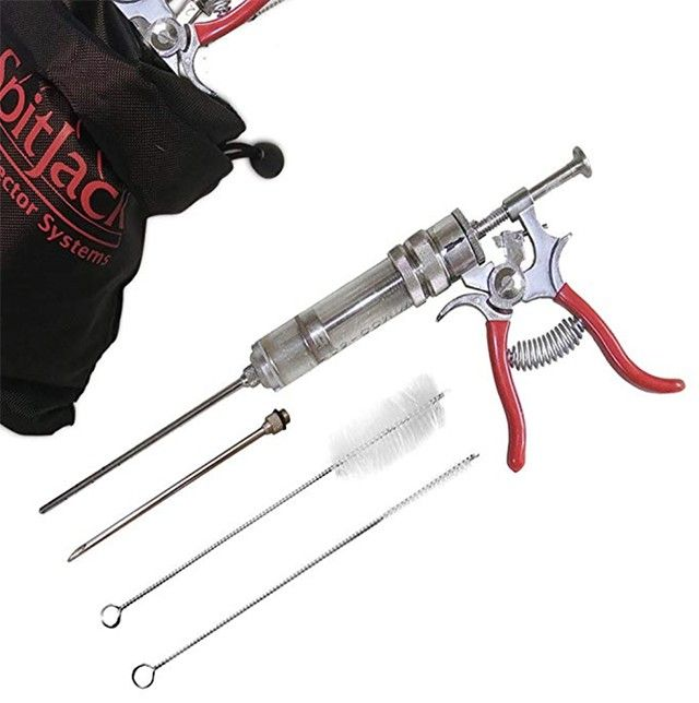 The SpitJack Magnum Meat Injector to inject delicious flavors into your meats, roughly $80.
