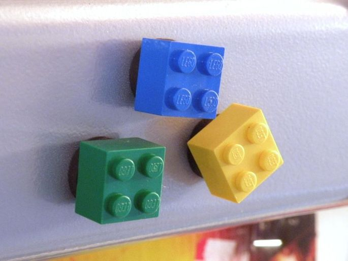 Soldier figures, dinosaurs, and Lego bricks can become drawer pulls and fridge magnets.