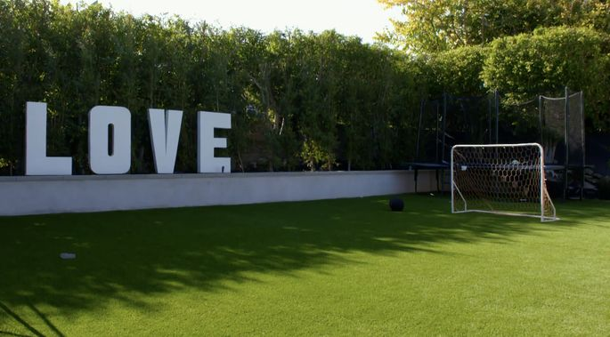 Christina Haack designed this space to be a soccer field, but she doesn't use it as much as she thought she would.