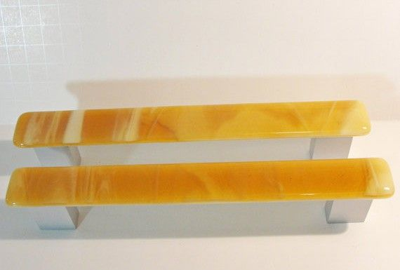 8-inch fused glass door pulls