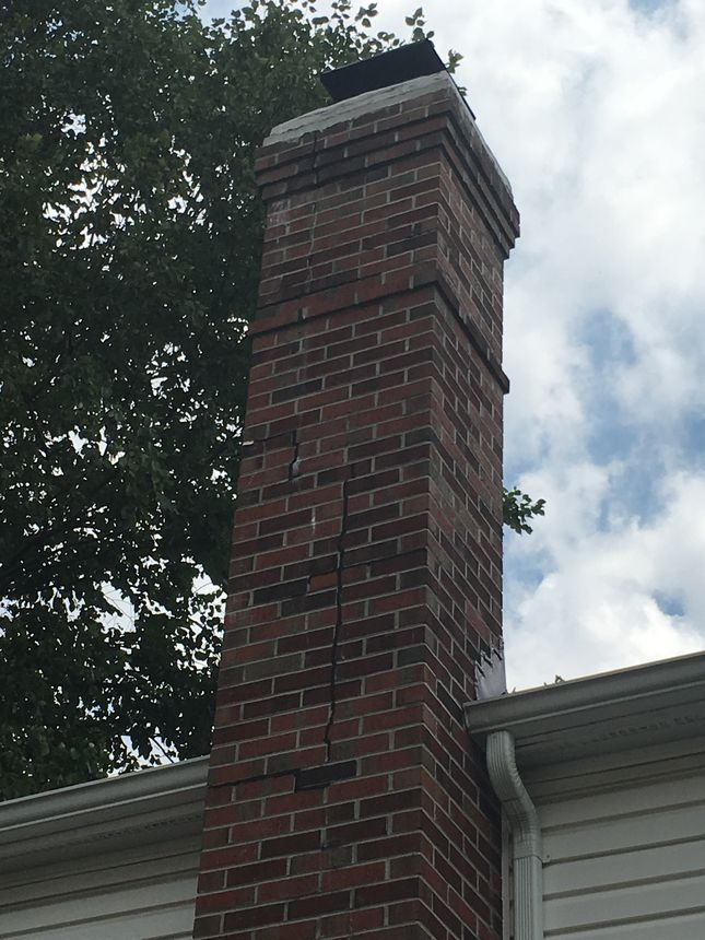This cracked chimney could be more dangerous than you think