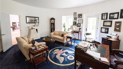 Why Does This $2.79M New York Home Have a Replica of the Oval Office?