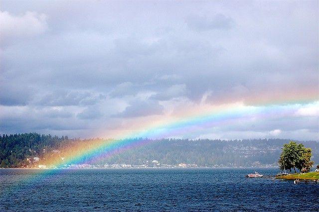 Rainbow over Lake Sammamish, WA
