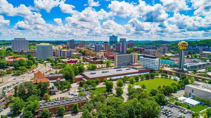 View of downtown Knoxville, TN