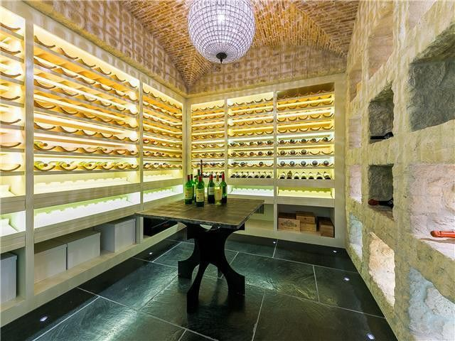 A wine cellar and tasting room that's fit for a prince