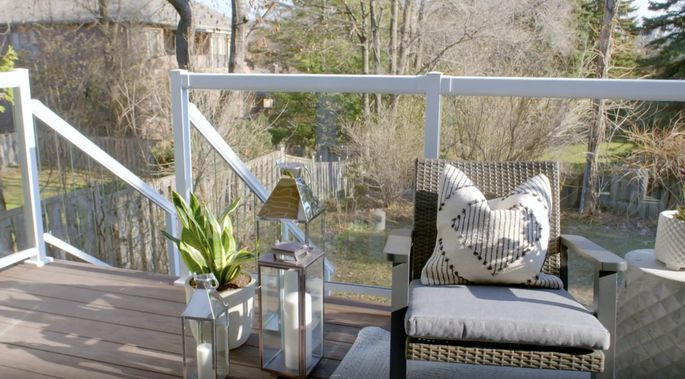 Glass railings can give decks a more open feel.