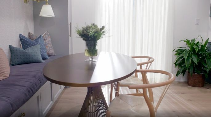 This more casual space will get way more use at mealtimes.