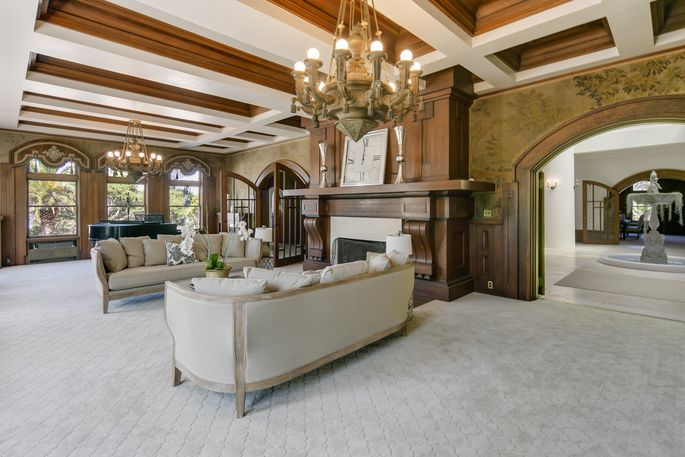 Comfortable, modern furnishings were chosen to complement the home's unique features.