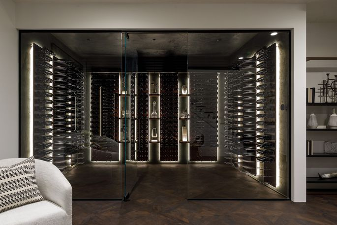 Wine cellar with space for more than 1,200 bottles