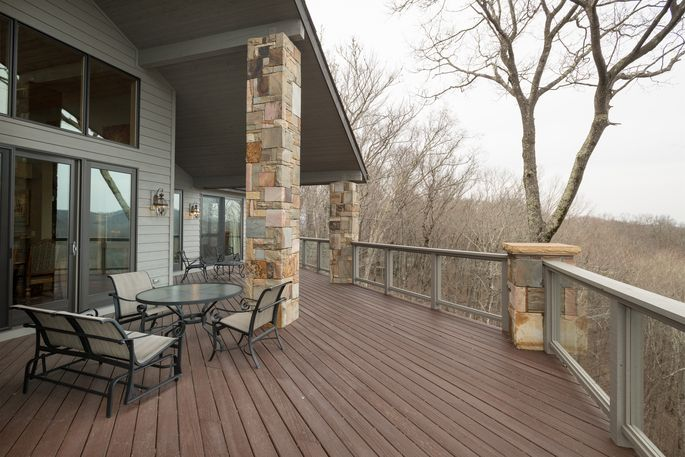 Deck overlooking the mountains