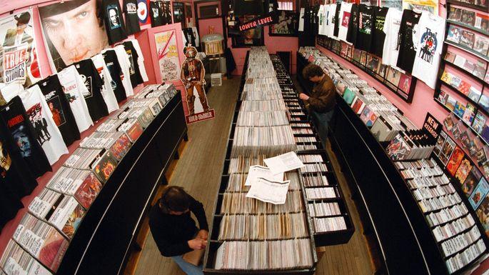 The Vintage Vinyl record shop in Evanston