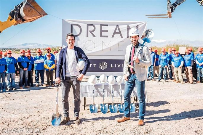 """The """"Property Brothers"""" stars broke ground on the project."""