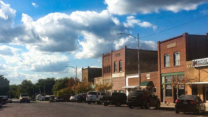 Illinois Street in Pawnee