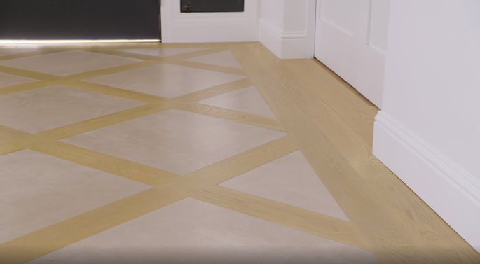 This entryway flooring looks lovely!