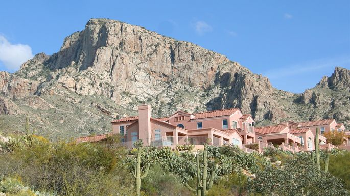 Desert homes in Tucson
