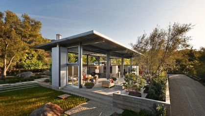 Steel and Glass Combine to Create the Ultimate Open-Concept Home in Montecito
