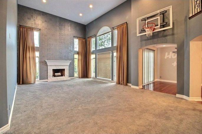 Living room with hoop