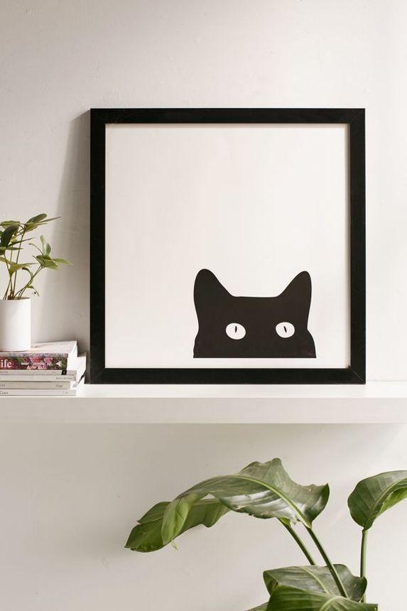 Meow! Who's that peeking at you?