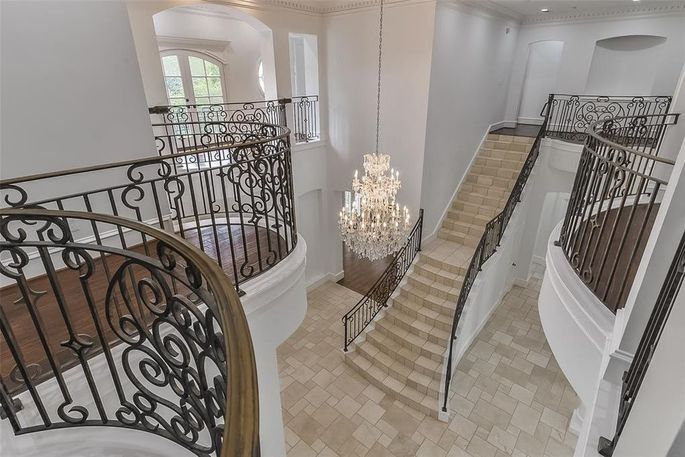 Entry with chandelier
