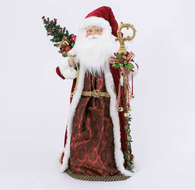 Santa, baby! This figurine is a classic look at the holidays.