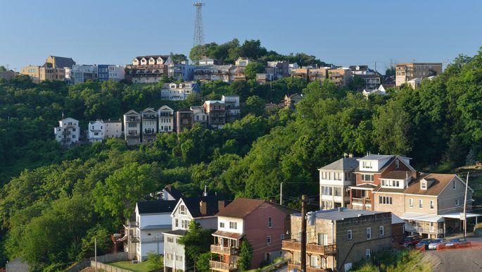 Houses on Mount Washington in Pittsburgh