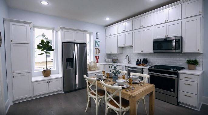 These seats give the kitchen a classic look.