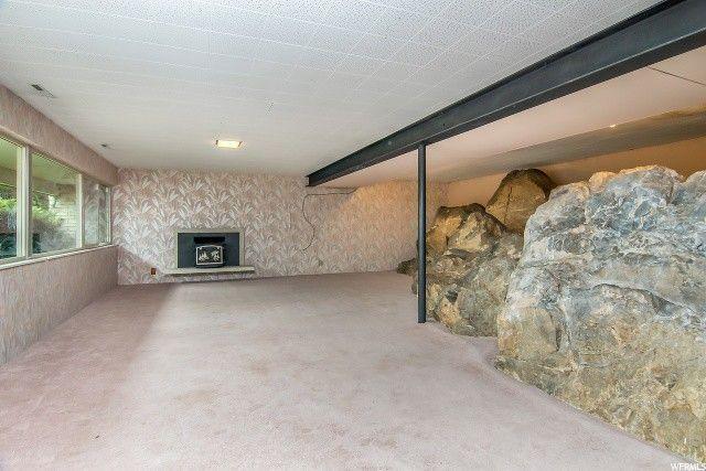 Salt Lake City UT boulders in basement
