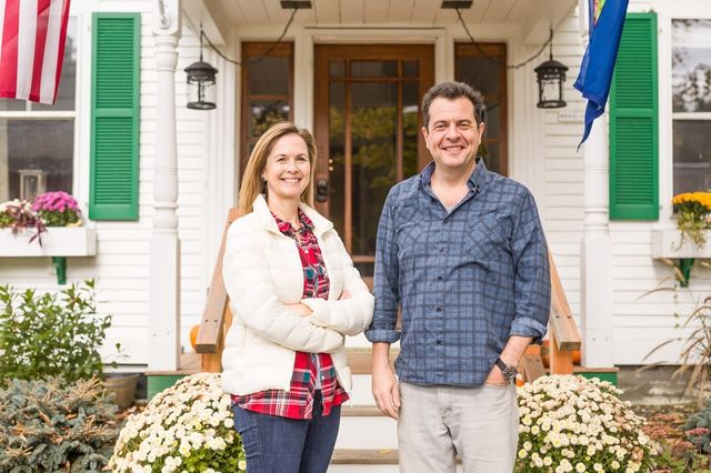 Isabelle Chicoine and Karim Houry, owners of the Woodstocker B&B. Before buying the property, the couple attended a three-day course for aspiring innkeepers.