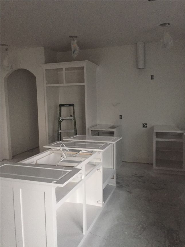 The early stages of our kitchen construction