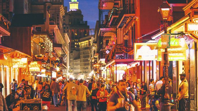 The world-famous French Quarter