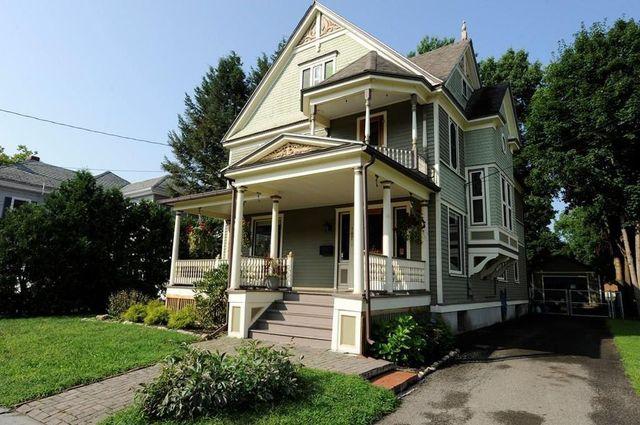 Green Victorian in Elmira NY exterior
