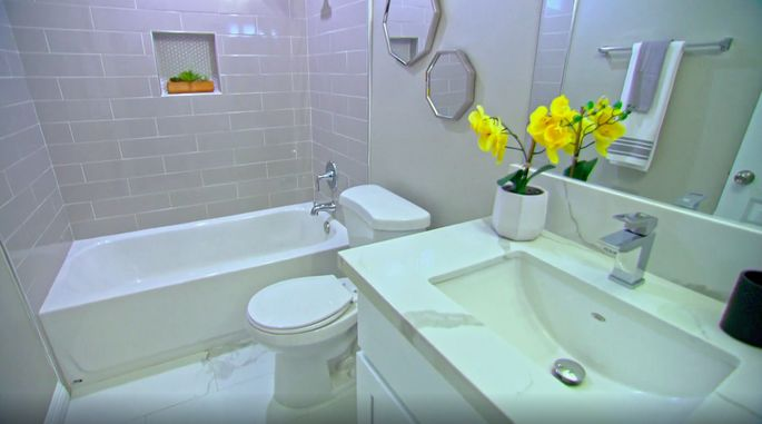 With a little bit of TLC, this bathroom is now stunning!