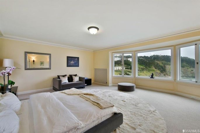 Master suite with ocean views