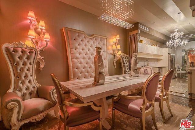 Dining room Barbie Bev Hills condo