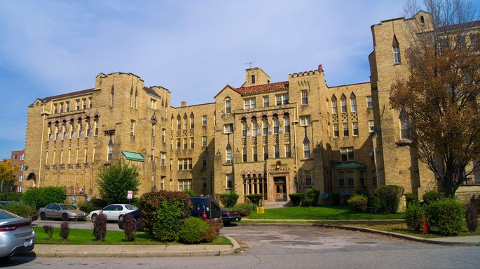 Renovated apartment building in the Palmer Park Historic District of Detroit