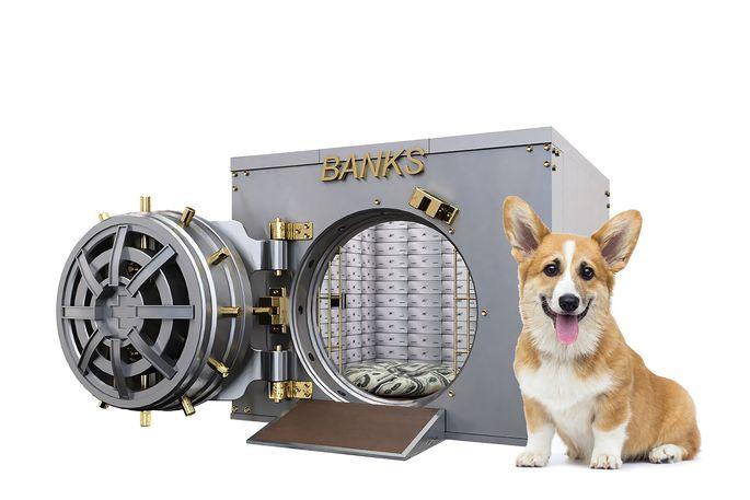 Bank vault or designer doghouse? You decide.