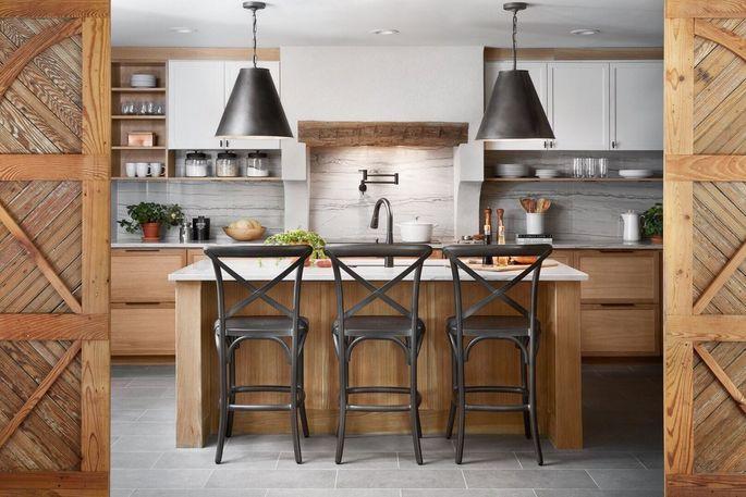 """The Aguilars love their """"Moditerranean"""" kitchen."""