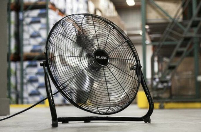 A fan can help keep you cool in the garage.
