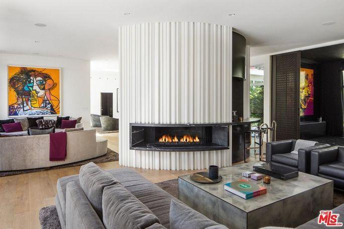 Eye-catching fireplace