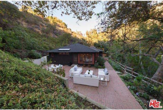 The property is tucked into thecanyon.