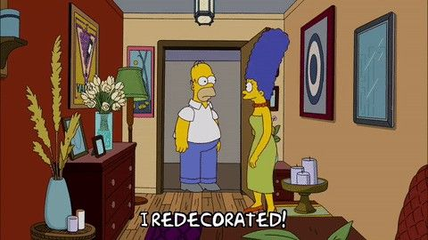 marge redecorates