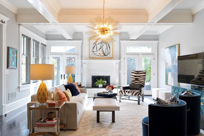 The McManus-Lawson home's living room